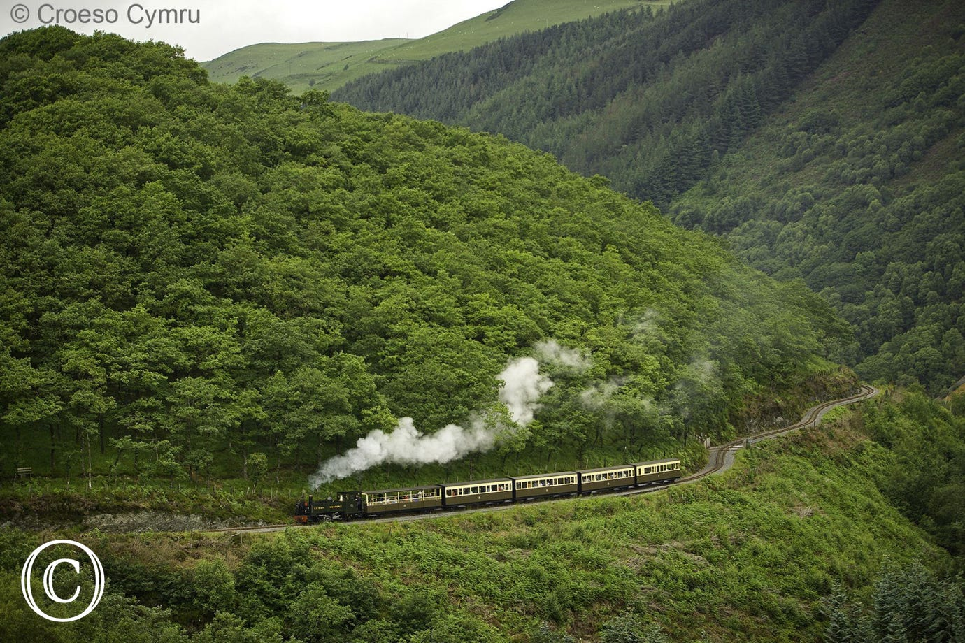Vale of Rheidol narrow gauge railway - from Aberystwyth to Devils Bridge