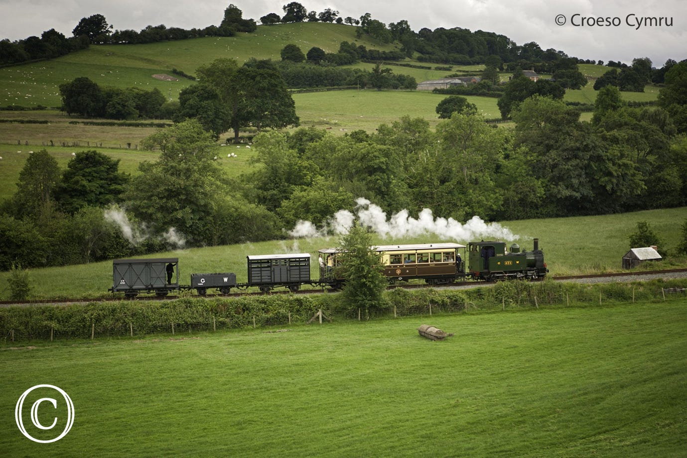 Popular narrow-gauge railway running between Llanfair and Welshpool