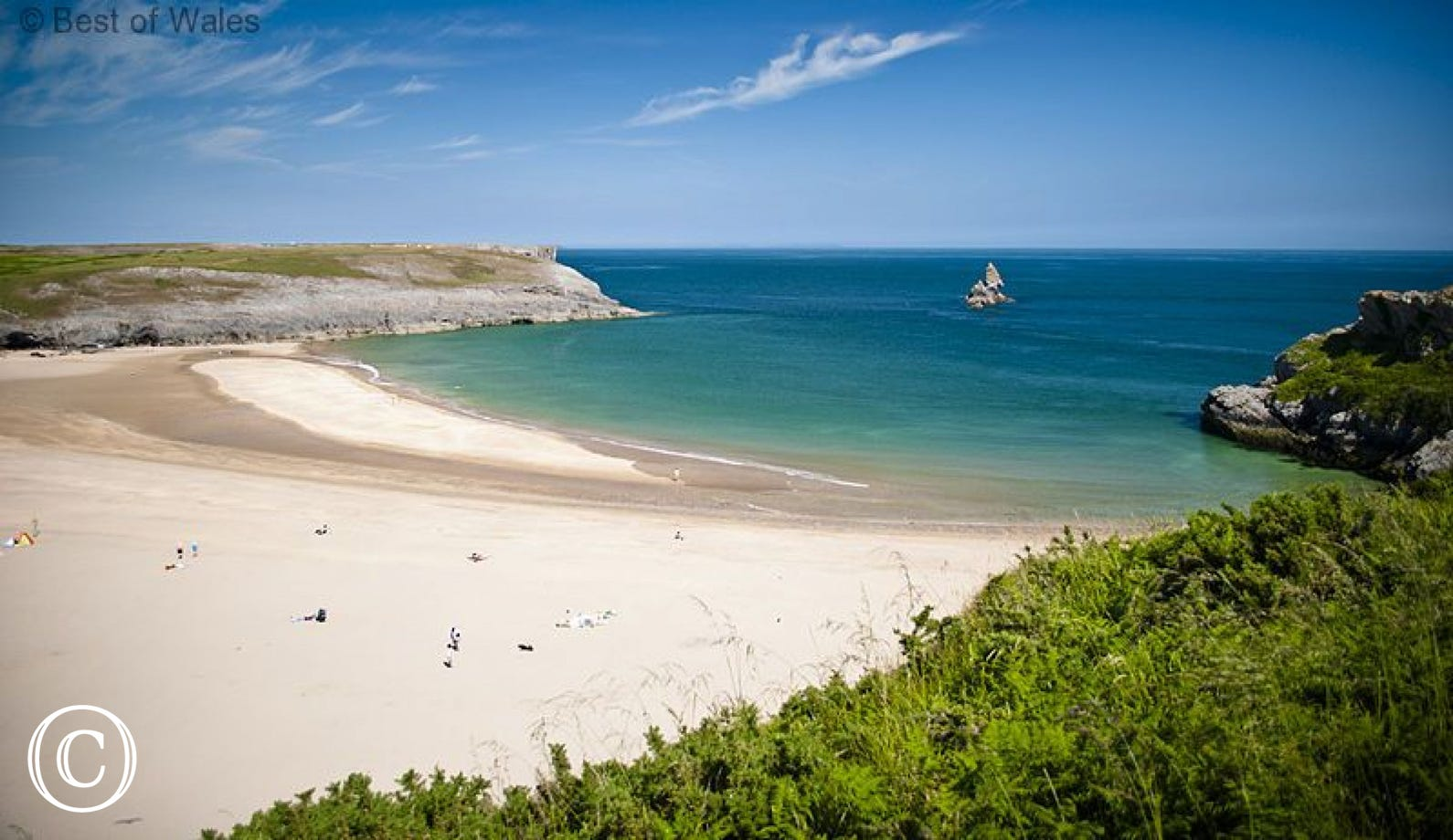Broad haven south in Pembrokeshire only a short drive away