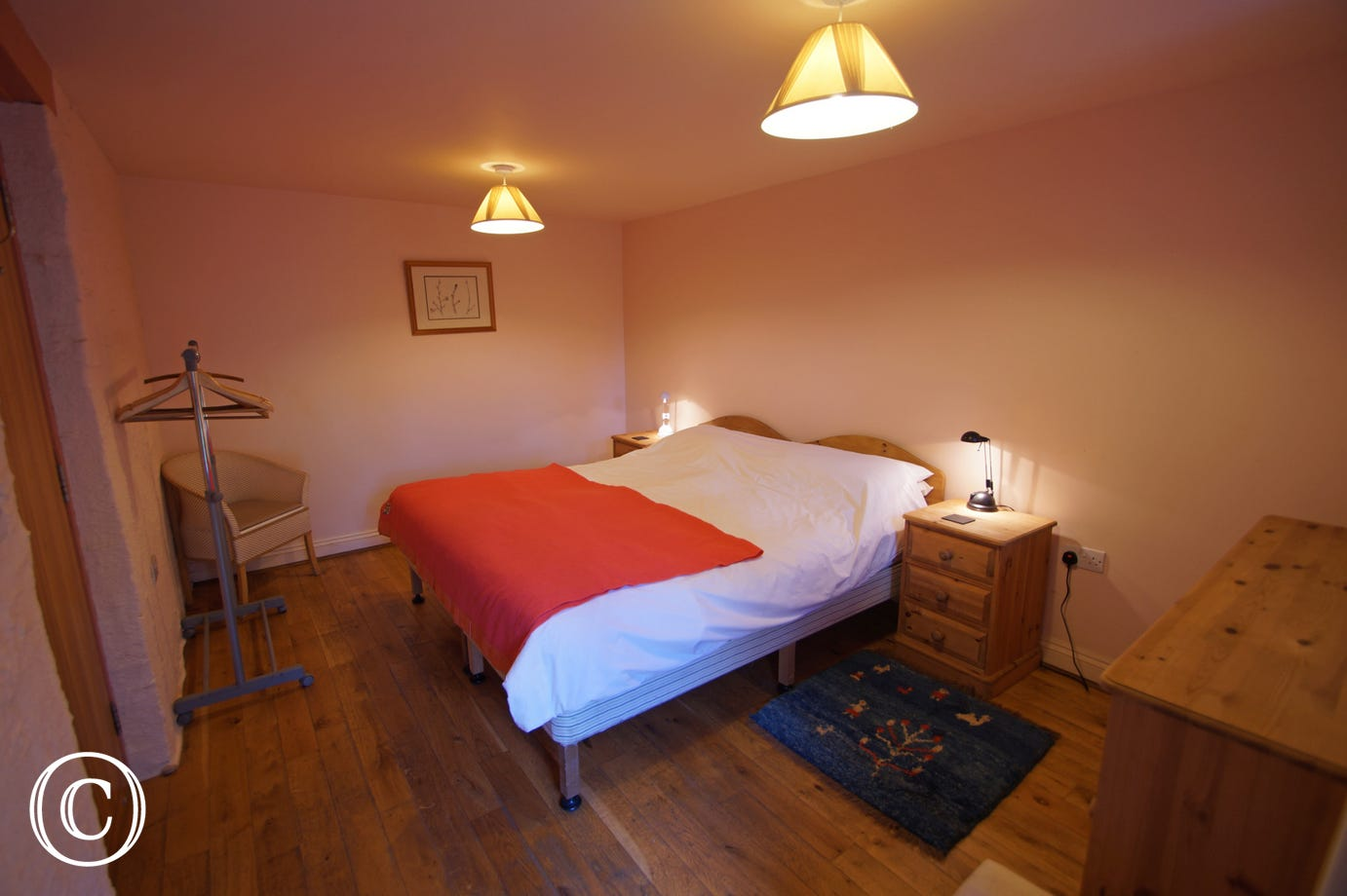 Ground floor bedroom - wheelchair access and underfloor heating