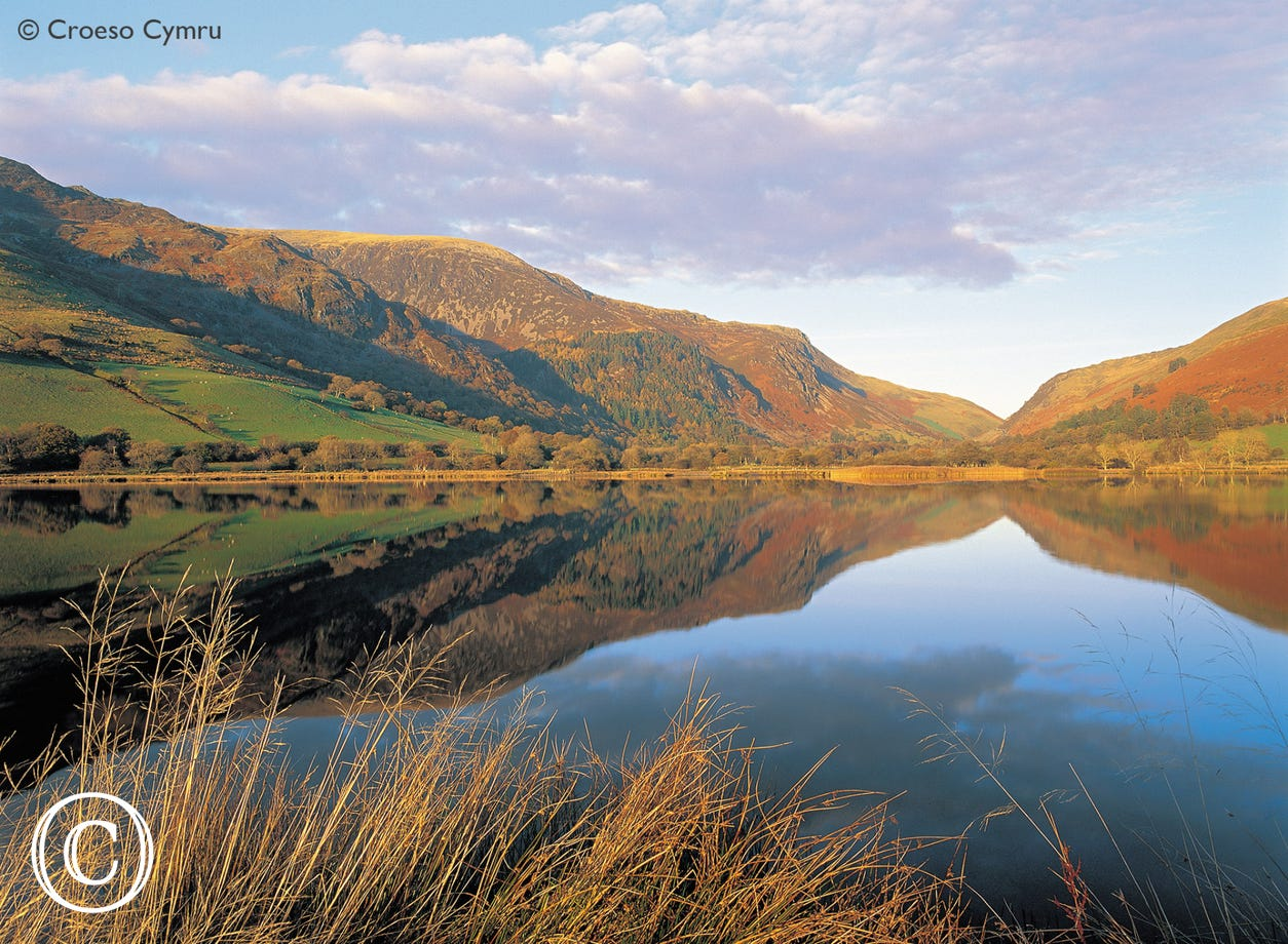 Tal-y-llyn lake - an iconic setting in a stunning valley