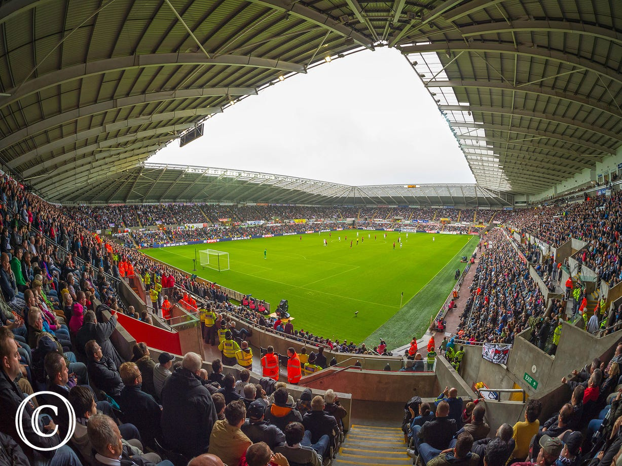 The liberty stadium, hosts many sports and events.