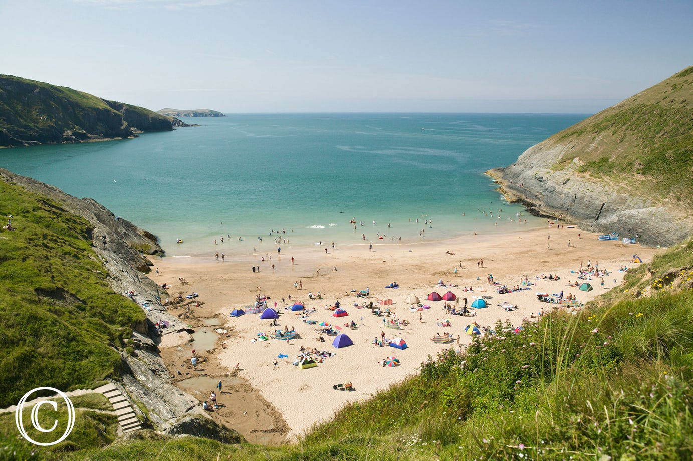 The beach at Mwnt