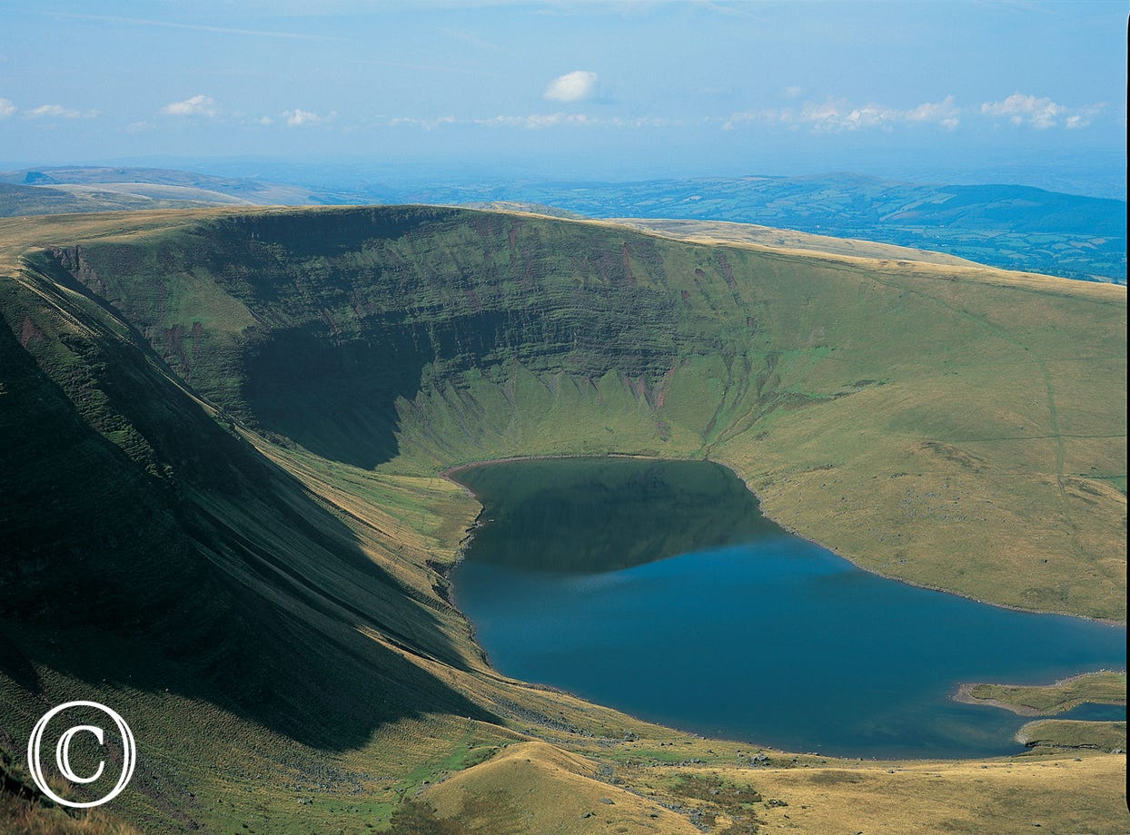 LLyn y Fan in the Brecon Beacons