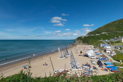 The beach at Tresaith - within walking distance
