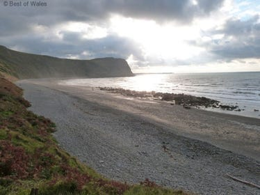 Unique village with its own beach in a stunning location on the Llyn Peninsula