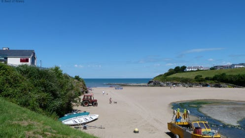 The beach at Aberporth