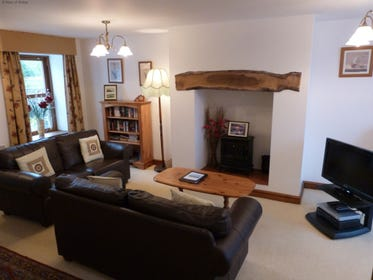 Spacious lounge welcomes you to this luxury Snowdonia self catering cottage