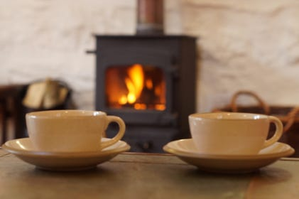 Welcoming woodburner as well as underfloor heating
